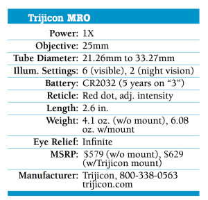 Trijicon-MRO-(Miniature-Rifle-Optic)-Specs