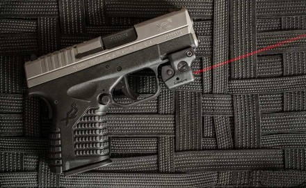 If you have a handgun with a rail, LaserLyte has a laser for it.  The company's new Lyte Ryder is