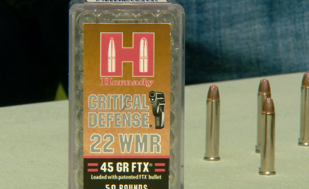 Craig Boddington talks with Hornady about it's .22 WMR ammo designed for short barrel handguns.