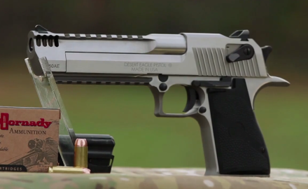 Patrick Sweeney offers his views on Magnum Research's behemoth .50 AE Desert Eagle Pistol.  While