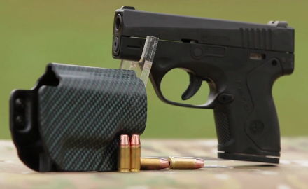 Richard Nance and Sean Utley show you a couple of compact personal defense guns from Beretta; the