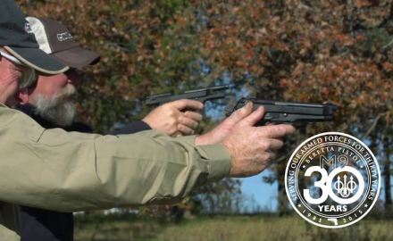 Kyle Lamb talks about military training/experiences with Beretta's M9 9mm pistol