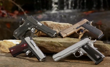 We highlight SIGSauer's 1911 family of pistols.  How can you not be impressed with thenumber of