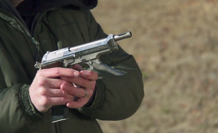 Patrick Sweeney and Tom Beckstrand highlight the Beretta 93, a weapon that is part pistol and part