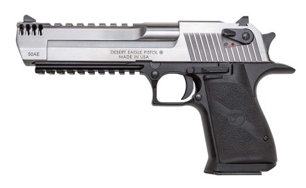 Weighing in at almost five pounds, the stout Desert Eagle has always demanded two-fisted