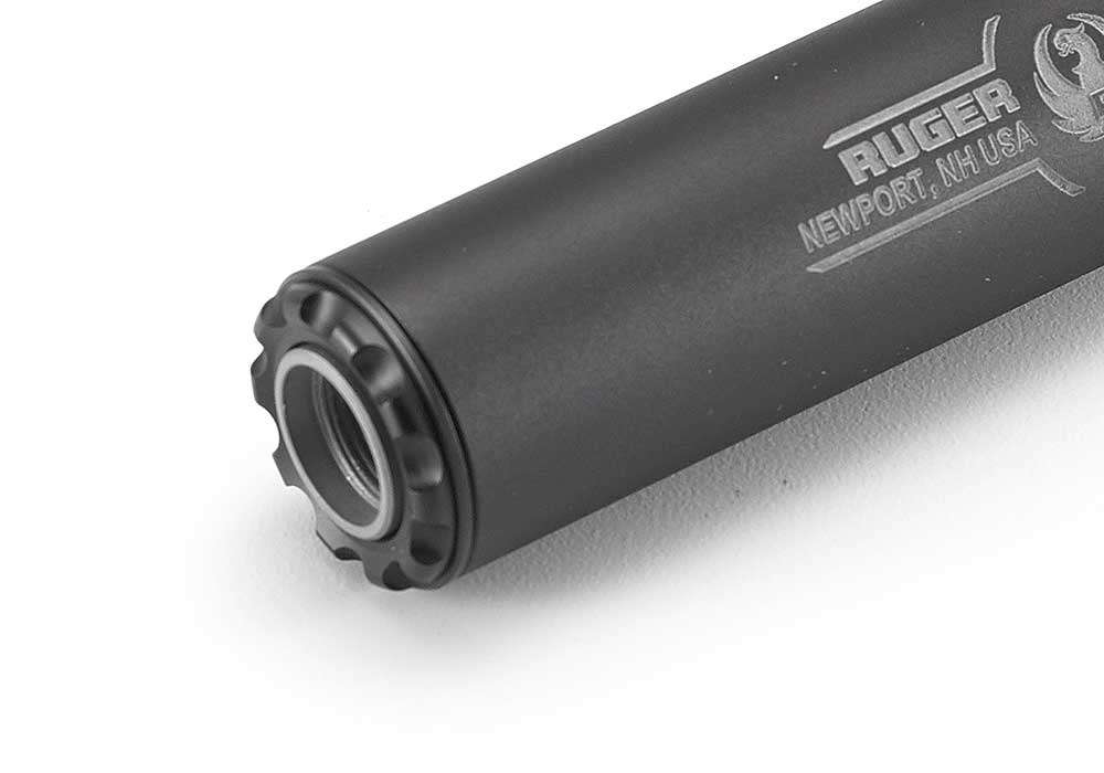 The Silent-SR is full-auto rated and features a standard 1/2″-28 ...