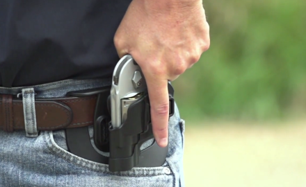 We feature Blackhawk's new Serpa holster, which is about as slick of a holster setup as you want.