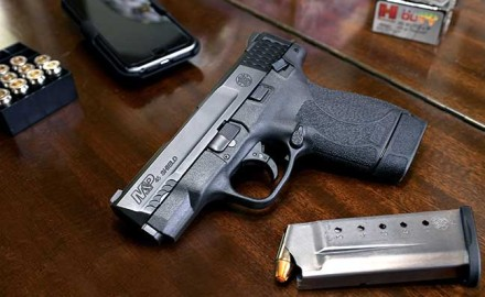 Smith & Wesson announced the introduction of its M&P Shield in .45 ACP at the opening day