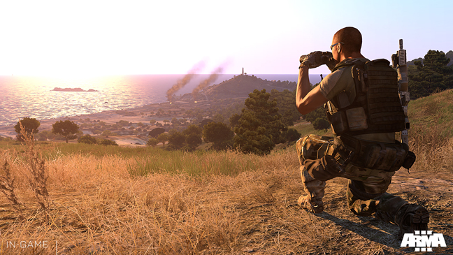 Arma 3 is the premier military simulation PC game, featuring authentic combined arms and combat on unrestricted large-scale terrains. (Bohemia Interactive)