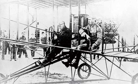 Lt. Jacob E. Fickel fired the first shot from an airplane on August 20, 1910, at Sheepshead Bay