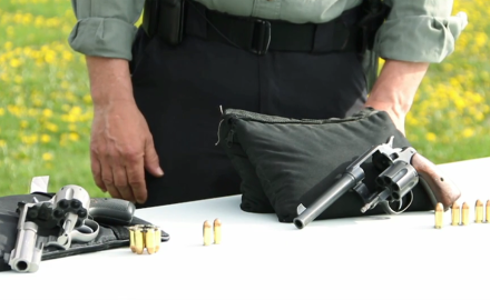 Patrick Sweeney and Jeff Chudwin show you how to shoot semi-auto pistol ammo in a revolver.