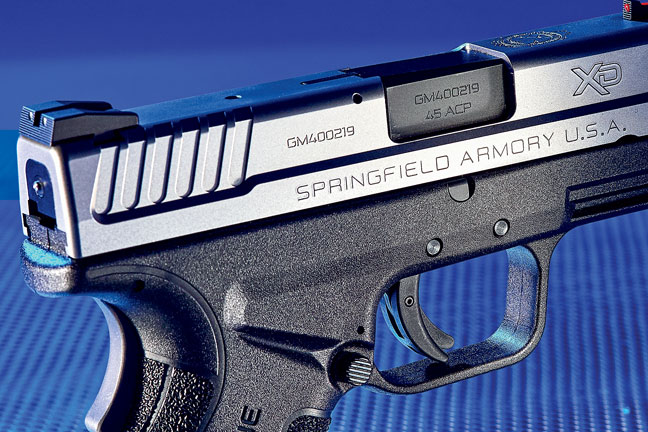 The Mod.2 features a slimmer slide, increasing comfort and decreasing the pistol's profile.
