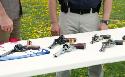 Patrick Sweeney and Jeff Chudwin discuss options for revolvers used in competition.
