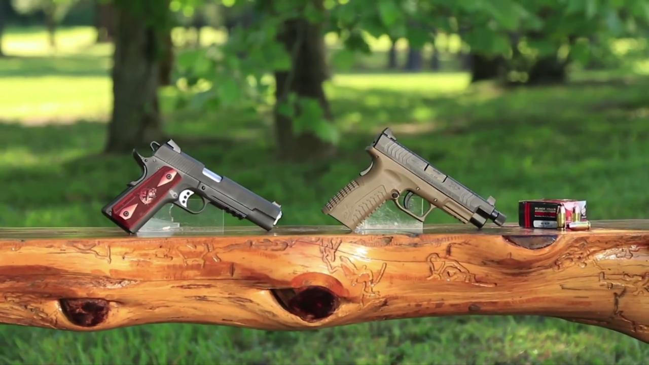 Family First: Springfield .45 ACP 1911 Range Officer & .45 ACP XDm