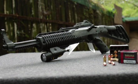 Hi-Point has introduced the first .380 carbine to go along with their 9mm & .45.