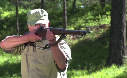 Craig Boddington and Garry James compare a pair of classic rifles carried by our Canadian and