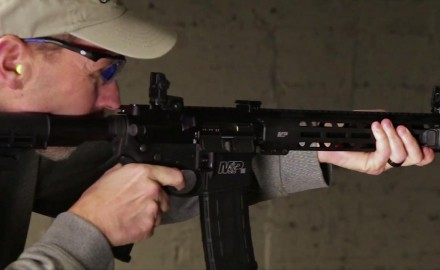 James Tarr talks with Jan Mladek of Smith & Wesson about it's new 5.5 M&P 15T carbine rifle.