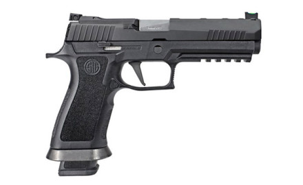 Offered in 9mm and .40 S&W, the SIG P320 X-Five is a full-size 5.0-inch-barreled pistol designed for competition.