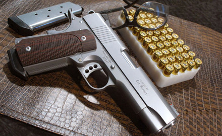 The new .45 ACP Ed Brown Compact 1911 features a match-grade, stainless-steel barrel; a fixed,