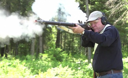 Garry James and Craig Boddington make their case for a pair of 18th century rifles; the Brown Bess