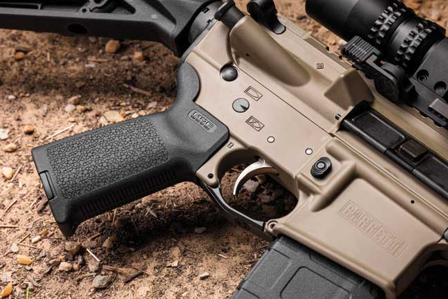 The Magpul MOE grip is a simple and effective selection.