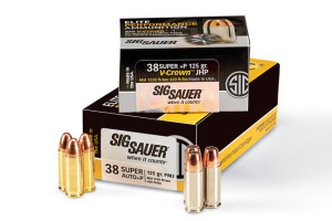 Introduced in the 1920s, the .38 Super +P is far from new. The V-Crown load offers an excellent 125-grain hollowpoint. $23/box (20 rds.) The FMJ load is distinguished by brass cases. $28/box (50 rds.)