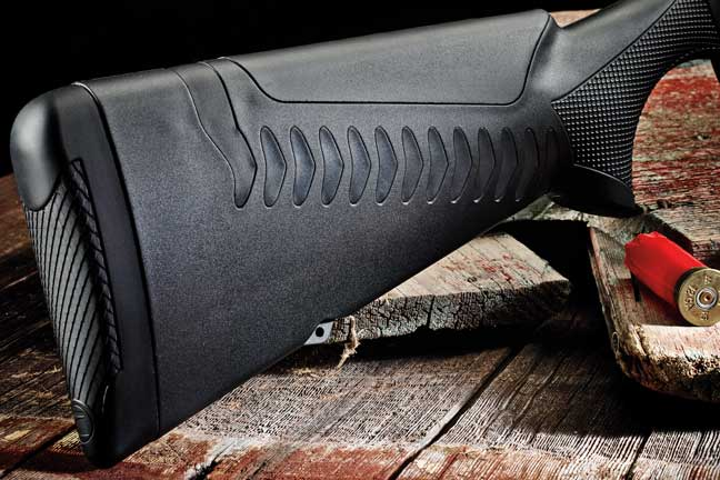 The Gen 3 ComforTec stock is new and enhanced for the SBE3. It is enlarged with a softened cheekpiece.