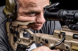 This comb height is for deliberate shooting where we're either behind the rifle for a long time or we need to spot our round impacts for quick re-engagement.