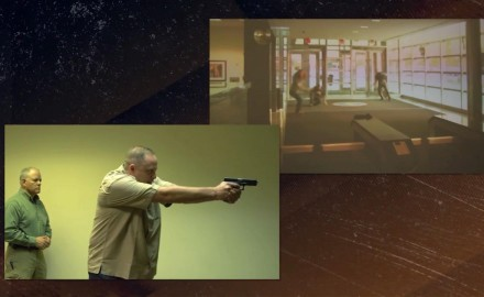 Eric Poole undergoes a real world simulation where a shooter shows up at the movies.  Craig