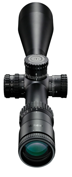 The outside knob on the left-hand turret selects any of 10 illumination settings for the reticle. Between each pair of numbered positions is an off setting. Adjust parallax for distances as short as 50 yards or as far as 1,000 yards and beyond with a knob inside the illumination control. A proper parallax setting is critical to getting achieving first-round hits.