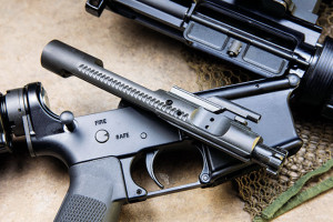 The bolt carrier is made from 860 steel, while the bolt is constructed of 158 Carpenter steel. This should avoid premature lug wear, thanks in part to a limited amount of sulfur and phosphorus added to the steel alloy.