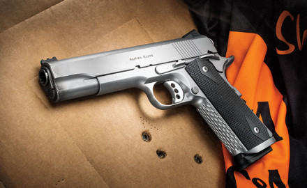 Ed Brown has made a pistol suitable for competition to honor the 40th anniversary of IPSC, the IPSC Edition of the Alpha Elite.