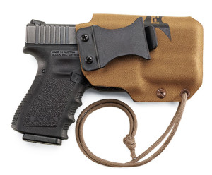 The FirstSpear SSV holster works for carrying handguns with popular Streamlight- or SureFire-model pistol lights attached. The SSV is ideal for AIWB or IWB carry. $100