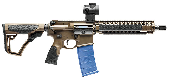 EQUIPMENT Daniel Defense MK18, danieldefense.com, $2,000 Trijicon MRO 1x25mm, trijicon.com, $580 UTM Target Shooting Kit, utmworldwide.com, $250