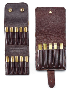 The Stalker and Safari Five cartridge wallets open quickly to reveal ammunition that is secured and can be intuitively accessed from a belt.