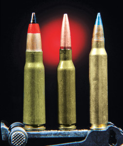 Caliber remains the 5.45x39mm M74 first adopted by the Soviet army in 1974. It's shown here flanked by a 7.62x39mm (left) and a 5.56x45mm (right).
