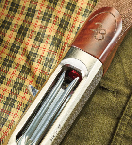 "The ""28"" mark cut into the forend wood distinguishes the new gun from its 12- and 20-gauge stablemates, though there's no mistaking the very slim barrel."