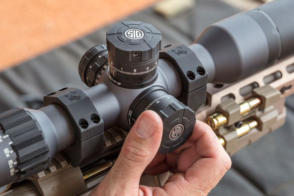 Both the elevation and windage turrets lock in place when not in use. A LevelPlex anti-cant system in the scope ensures the scope is level in the mount.