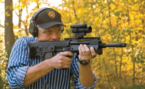 The RFB's 8.1 pounds helps reduce felt recoil without over-burdening the shooter. The compact rifle is well balanced, and fully ambidextrous controls allow easy manipulation from either shoulder.