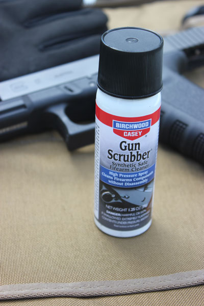 Gun Scrubber breaks down nasty fouling to keep your firearms running effectively.