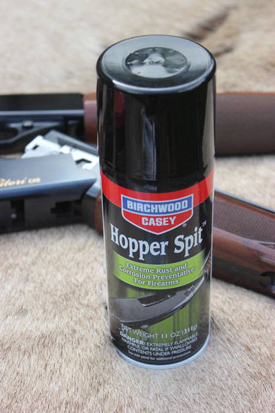 Hopper Spit provides amazing corrosion protection for extreme environments—perfect for duck hunters whose firearms are often subjected to salt and spray.