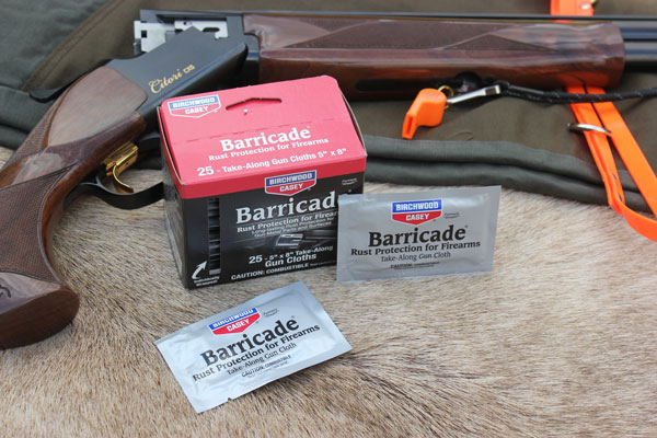 Barricade Wipes are easy to stuff in a pocket or glove box of your truck and are ideal for when you come in from the field and want to give your firearms a quick wipe down before you case them.