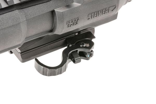 A quick-detach mount adapts to any MIL-STD 1913 rail.