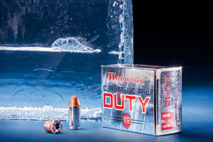 Not surprisingly, Hornady's Critical Duty passed through the bare gelatin.