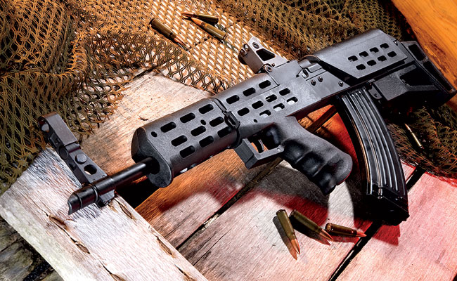 The 1975 AK Bullpup from Century Arms offers Kalashnikov enthusiasts a unique take on the ever-popular design, consisting of a powerful rifle in a compact package.