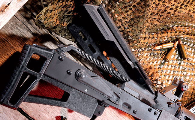 Internally, the AK Bullpup is a simple, straightforward Kalashnikov that offers the reliability of the original.