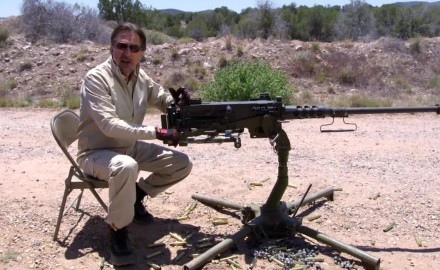 """Gun Stories"" host Joe Mantegna talks about the origin and history of John Browning's M2 .50 caliber heavy machine gun, also known as the Ma Deuce."