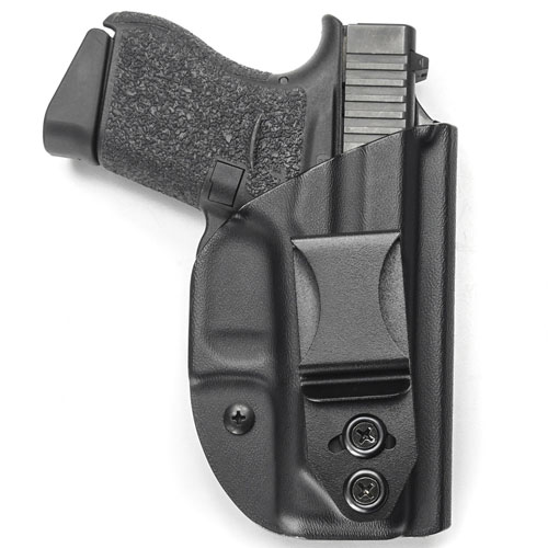 The LightTuck Kydex IWB holster is easily ordered online and comes available to precisely fit most handgun configurations. A long list of color or pattern options are available for an upcharge including license patterns from Kryptek, Mossy Oak and Realtree. However, there is no additional charge for black. $55
