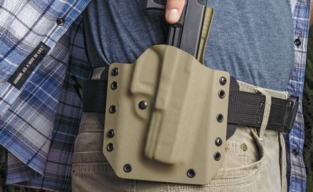 Vedder Holsters' LightDraw Kydex OWB proved super comfortable to carry in G&A's exclusive