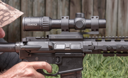 Steiner's P4Xi 1-4X variable offers excellent quality for the price and is ideal for scoping your AR-15.